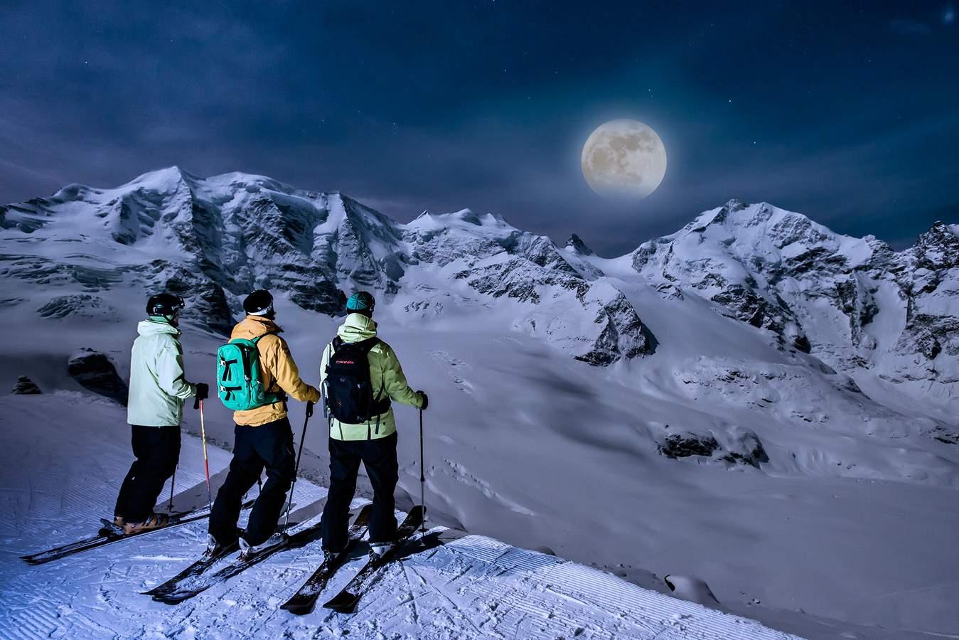 Skiing snowboarding in pontresina the engadine - Ski wallpaper ...