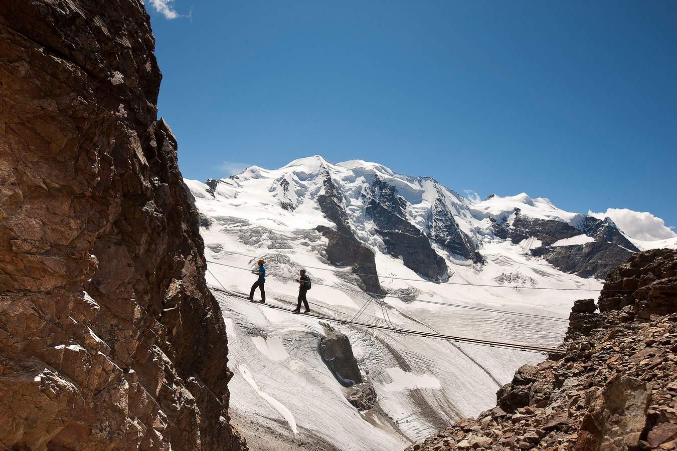 Klettersteig Pontresina : Hochtouren klettern in pontresina im engadin
